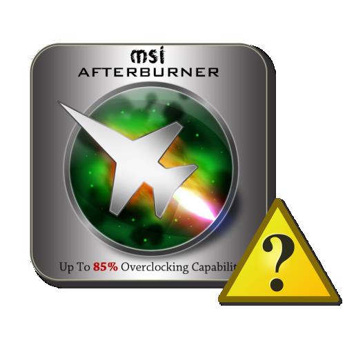 MSI Afterburner не видит видеокарту