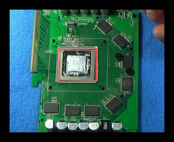 Удаление термопасты с видеокарты