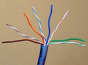 Обжим витой пары. Замена телефонного кабеля от щитка до розетки.