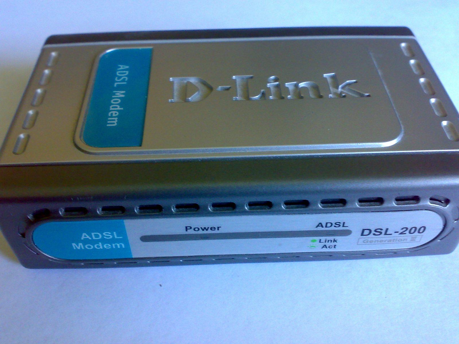 Модем Dlink DSL-200