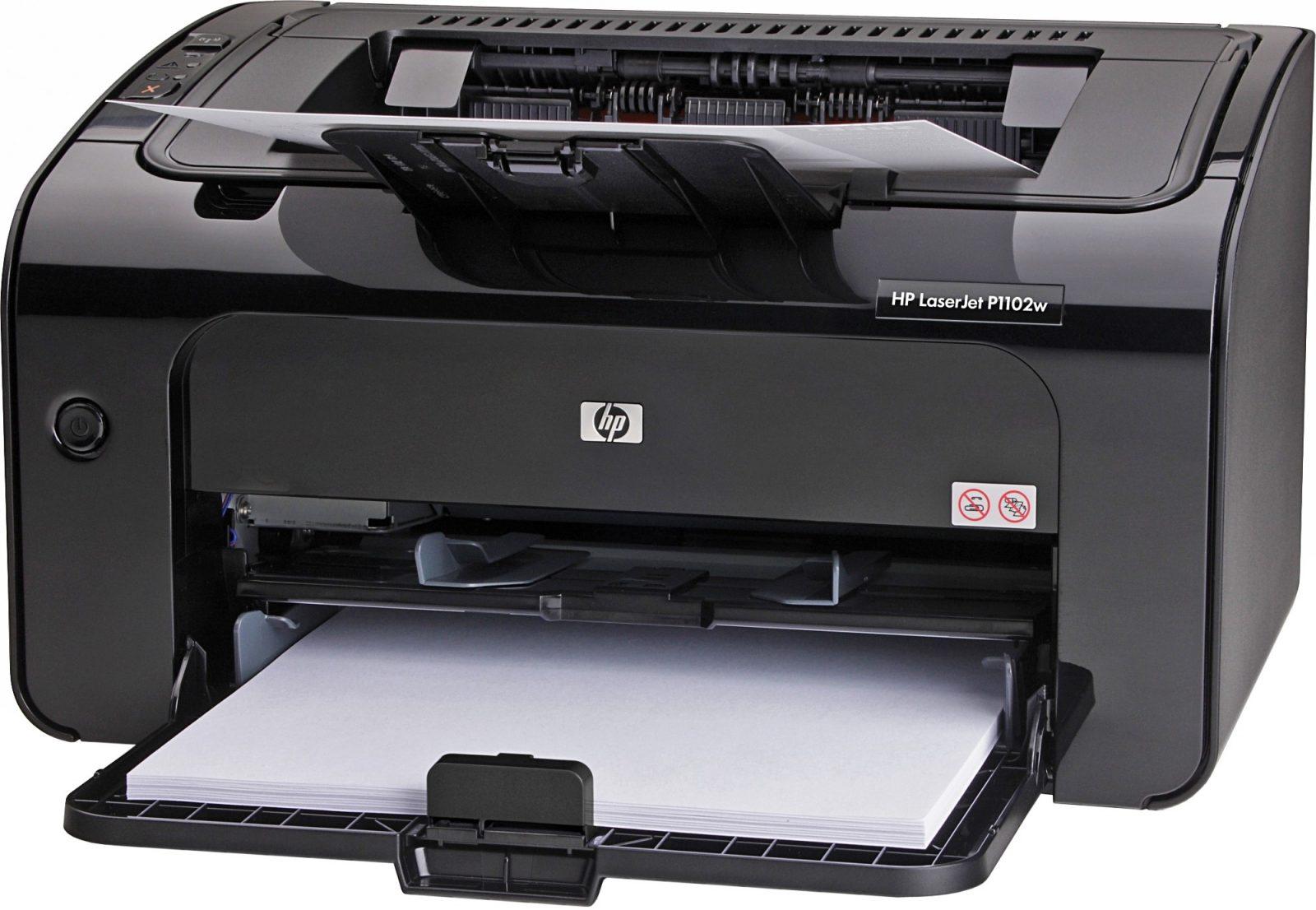 Лазерный принтер hp чёрного цвета