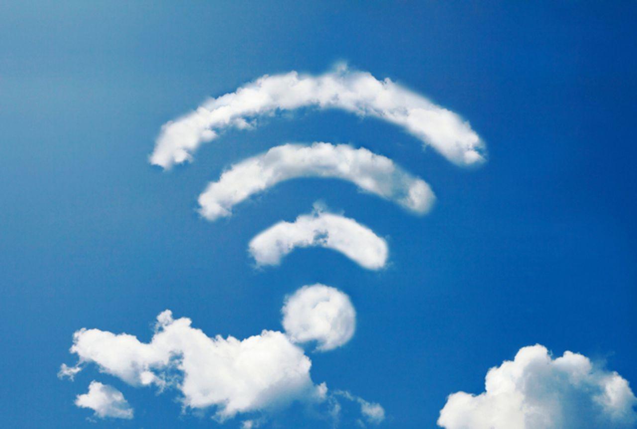 Облако в виде изображения WiFi