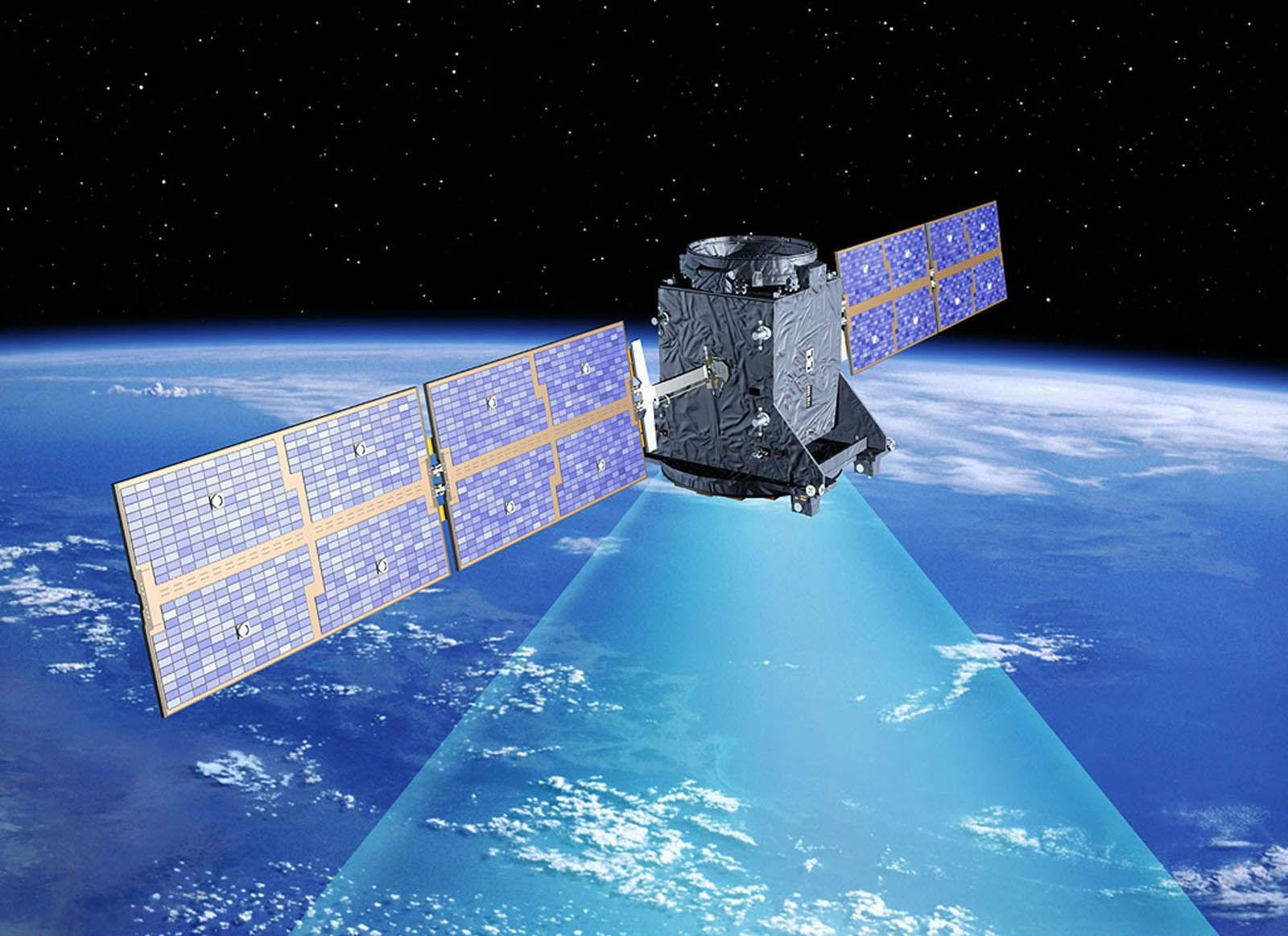 Спутник в открытом космосе