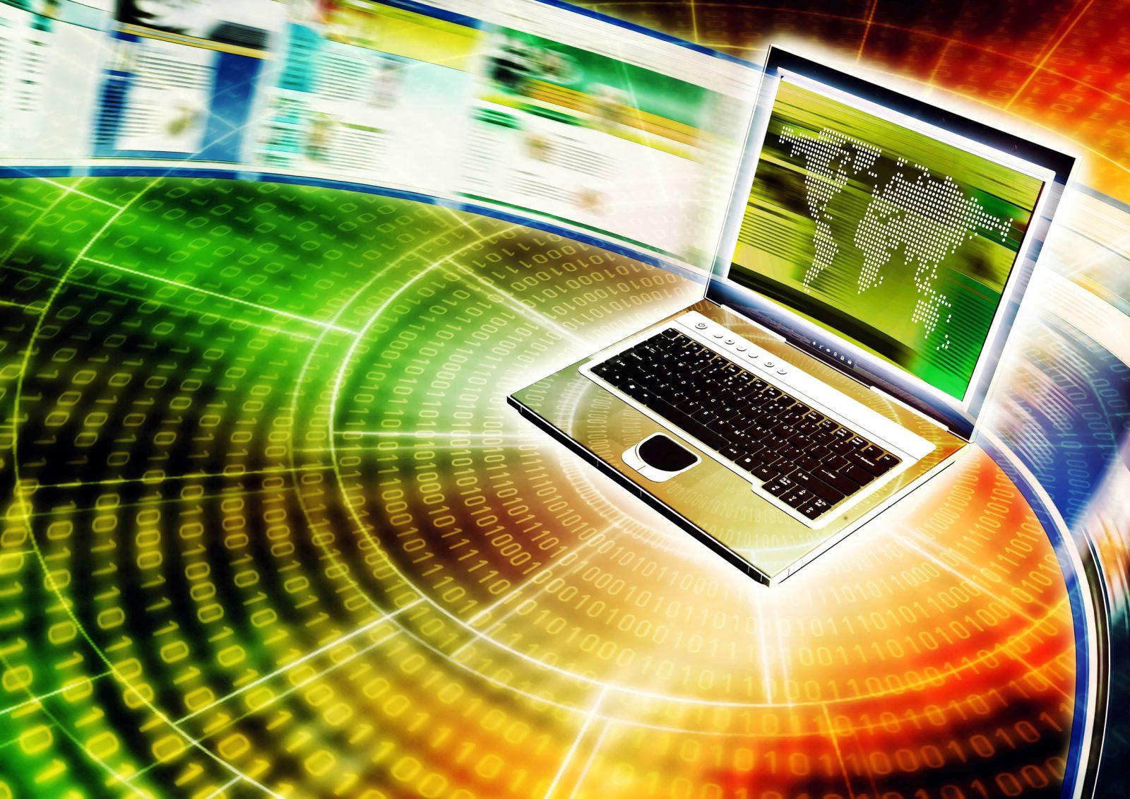 Изображении интернета и информации
