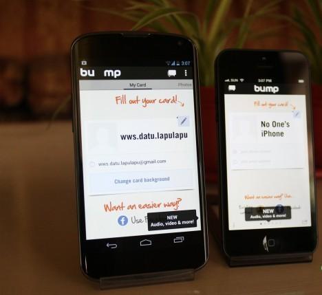 Работа приложения на iPhone и Android