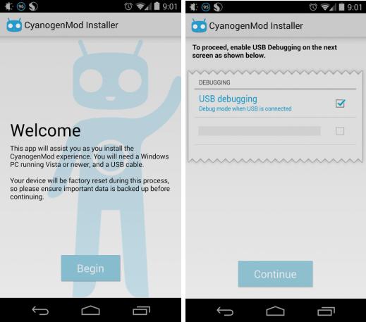 Приложение CyanogenMod Installer