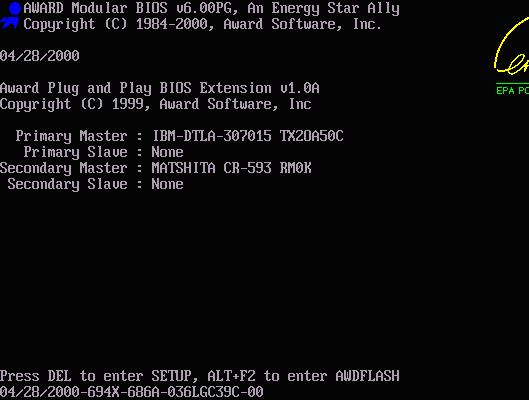 Загрузка BIOS