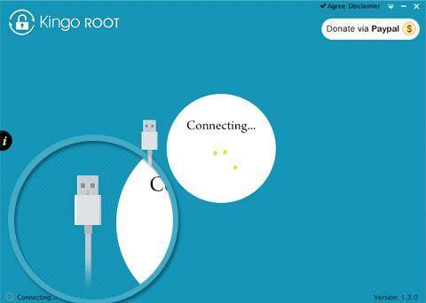 Подключение Kingo Root