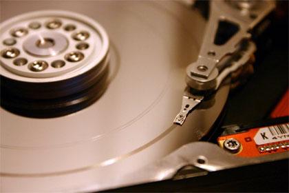 Жёсткий диск со снятой крышкой