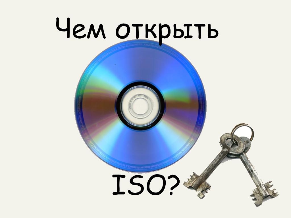Какими программами можно открыть образ диска ISO