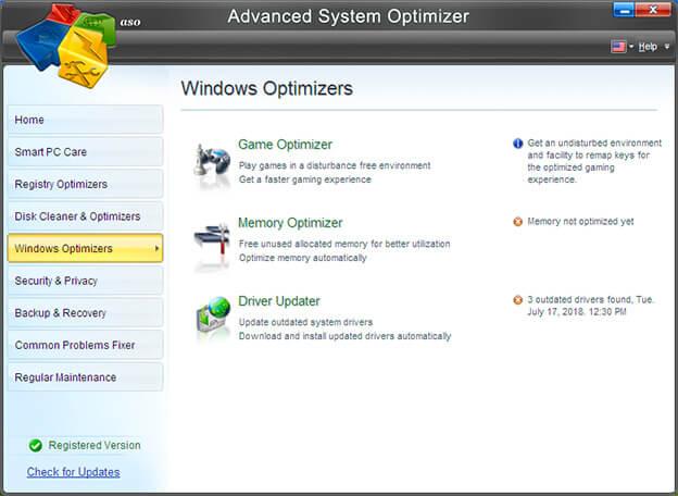 "Advanced System Optimizer -""Оптимизация для игр"""