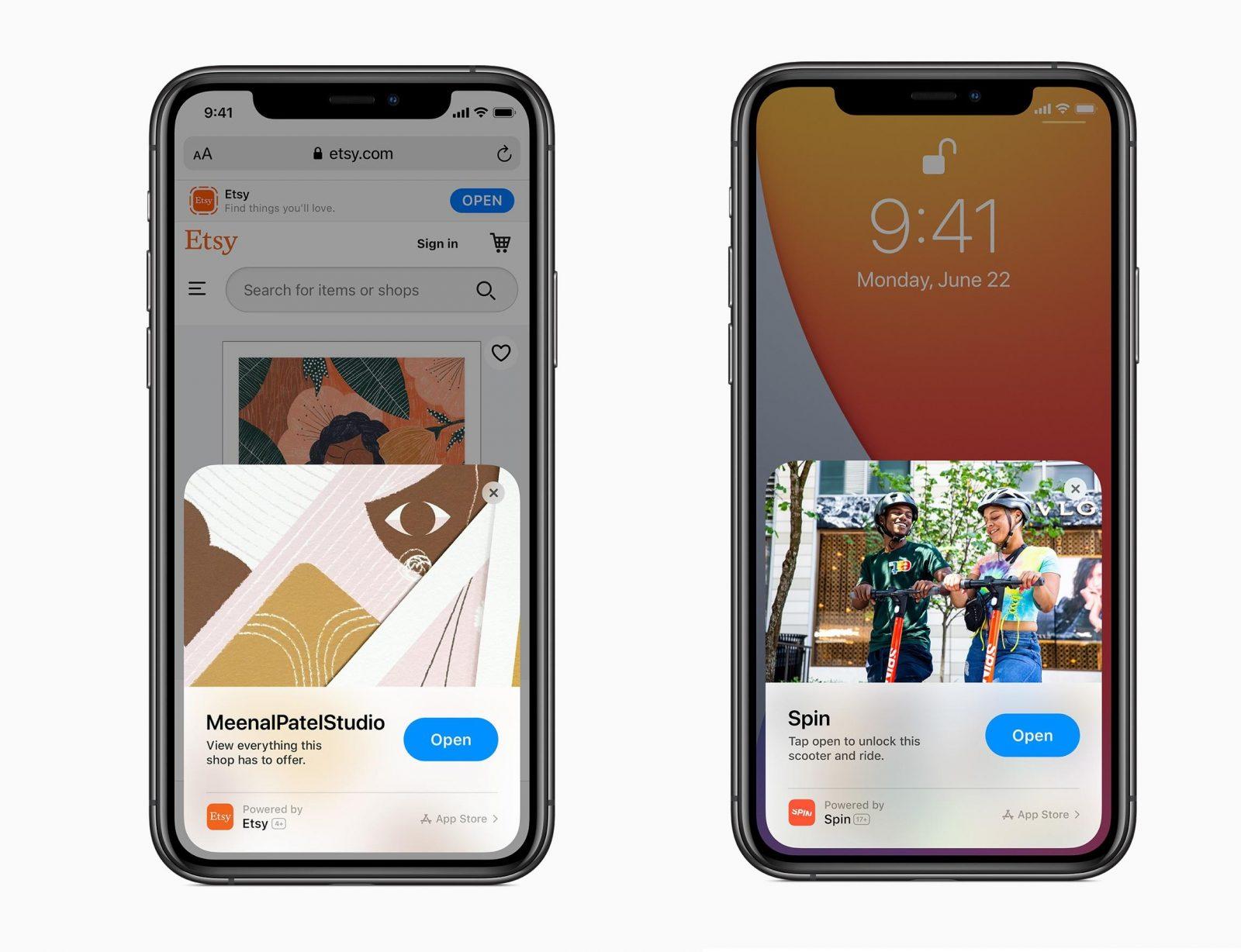 Приложение Clips в iOS 14 (изображения: Apple)
