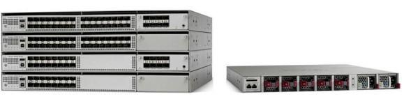 Семейство коммутаторов Cisco Catalyst серии 4500-X с и без дополнительного 8-портового съемного модуля и задней панели