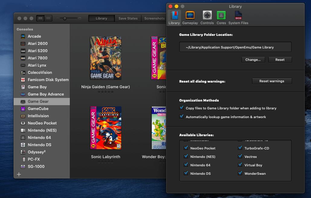 Лучший мультисистемный эмулятор для Mac: OpenEmu