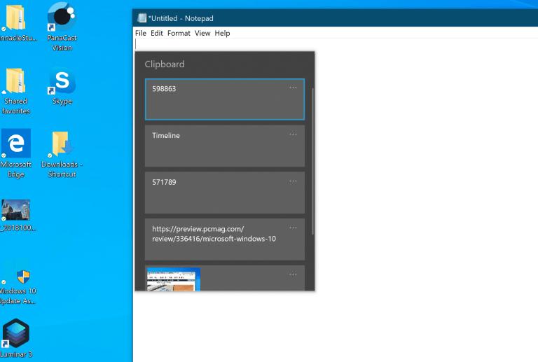 Облачный буфер обмена Windows 10