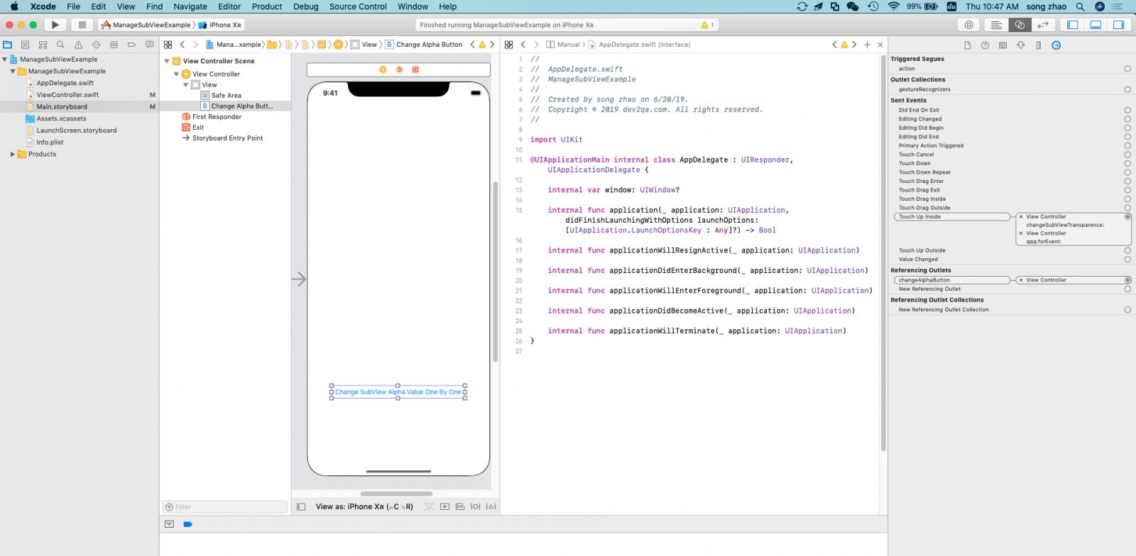 Как исправить ошибку в Swift Unrecognized Selector Sent To Instance Error