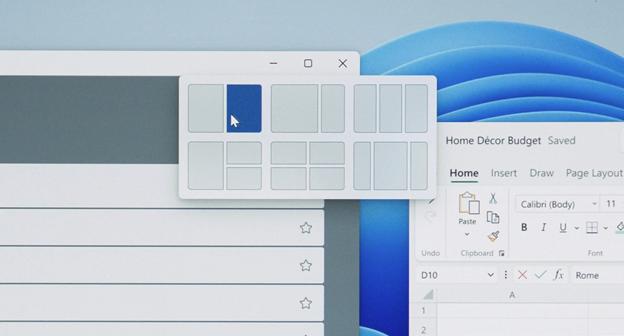 Макеты привязки Windows 11