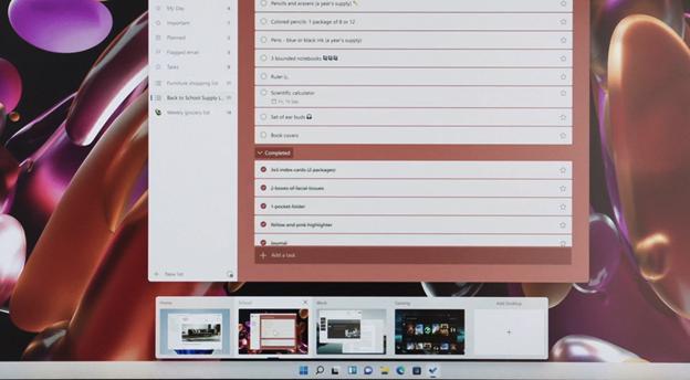 Переключение между рабочими столами Windows 11