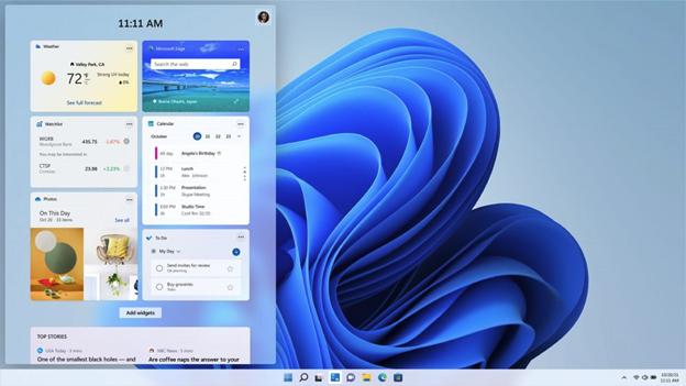 Виджеты Windows 11