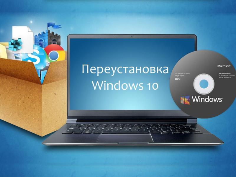 Как переустановить Windows 10: переустановка с сохранением файлов и лицензии Виндовс