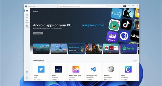 Android-приложения в магазине приложений Windows 11
