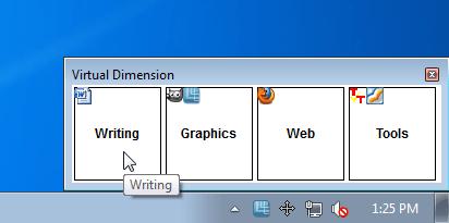 Менеджер рабочих столов Windows 7 — Virtual Dimension