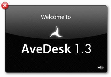 Приветственное окно программы AveDesk